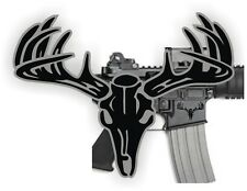 AR15 Lower BUCK SKULL Decals / Magazine Stickers / S&W Colt Mag Black Ops (2x)