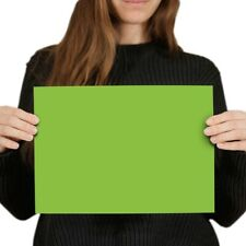 A4  - Bright Lime Green Colour Block Poster 29.7X21cm280gsm #44454