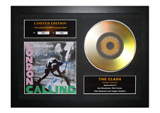 More details for the clash signed gold disc album ltd edition framed picture memorabilia