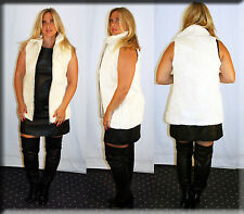 New Cream White Sheared Beaver Fur Vest Size Medium 6 8 M