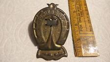 "Antique BRASS PAPER CLIP  Horseshoe Shape,SPENCERIAN, 3-1/2"",Wear"