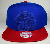 Mitchell and Ness NBA Philadelphia 76ers XL Cropped Snapback Hat, Cap, New