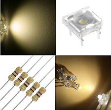 50 diodi led PIRANHA SUPERFLUX 5 mm bianco caldo + 50 resistenze 470 OHM