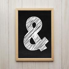 Bild Ampersand Kunstdruck A4 Und Zeichen Schwarz Weiß Modernes Deko Poster