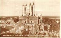 uk19406 west front castle keep lincoln cathedral real photo uk