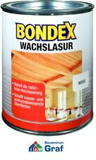 Bondex wachslasur weiß 0,75 L / Wood Varnish for Finishing and Care