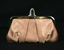 CHRISTIAN LOUBOUTIN Nude Pleated Satin Strass MINI LOUBI Clutch Bag