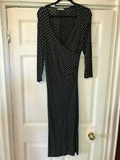 Artigiano Italy Womens spotted Stretchy Long Jersey Dress Size UK  10  Viscose