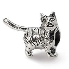 Sterling Silver Reflection American Short Hair Cat Bead Msrp $83