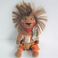 """Disney Store Simba 13"""" approx soft toy plush The Lion King Musical Collection"""
