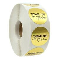 "500Pcs ""Thank You"" Craft Packaging Seals Kraft Sealing Sticker Label Cute Paper"