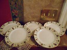 Set 5 Antique Noritake Nippon Handpainted Fine China Lucheon Salad Plates Dishes