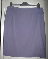 Vintage Jean Muir purple wool crepe skirt - Size 18