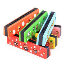Musical Instruments Harmonica Developmental Baby Kid Wooden Music Toy 1pc