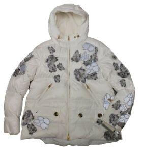Bogner Ladies Ski Jacket Gemma - D White Grey Size 40 M L New with Tag