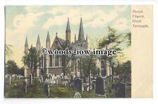 cu2509 - St. Nicholas Parish Church, in Great Yarmouth - postcard