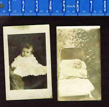 Babies - One in Stroller -  REAL PHOTO RPPC Postcards