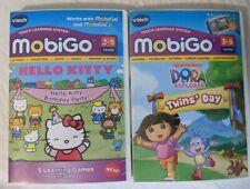 VTech  MobiGo Learning Game LOT Dora the Explorer & Hello Kitty NEW