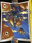 Nakatomi Screen Print ~ Koi Warriors Blue Limited Edition 33/50 by Tim Doyle