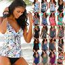 Women's Tankini Swim Sets Vest Swimwear Two Piece Beachwear Padded Bathing Suit