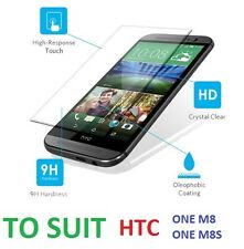 Hard Tough Tempered Glass Screen Protector Screen Guard Shield HTC One M8 M8S
