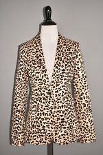 1901 New $149 Preppy Twill One Button Structured Blazer Leopard Print Size 2