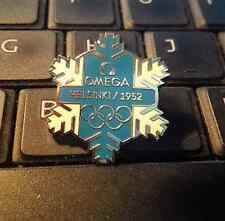 2010 VANCOUVER OLYMPIC OFFICIAL TIMEKEEPER OMEGA 1952 HELSINKI SNOW ERROR PIN