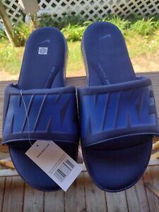 NWT NIKE ULTRA EXTRA COMFORT 3 SLIDES SANDALS GEL SOLES ROYAL BLUE RARE MENS 18