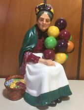Vintage Royal Doulton Old Balloon Seller Lady HN 1315 Porcelain Figure