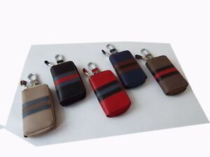 Real Leather Key Case holder Key Wallet Key Ring Key Fob Zipped Coin Pouch Purse