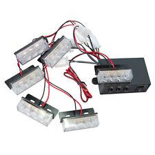 HQRP 18 LED Luz estroboscópica blanca de emergencia para rejilla delantera
