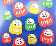 Japanese Daruma Doll stickers! Kawaii emoji, Bodhidharma Buddhism Zen Monk, cute
