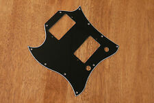 PICKGUARD BLACK 3 PLY LEFT HANDED FULL FACE SIZE FOR GIBSON SG STANDARD