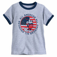 Disney Store Authentic Mickey Mouse Americana Boys T Shirt Size 2/3 4 5/6 7/8