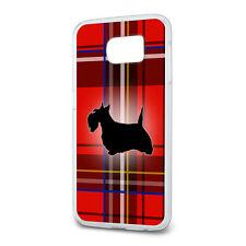 Scottie Dog on Red Plaid Scottish Terrier Slim Fit Case Fits Samsung Galaxy S6