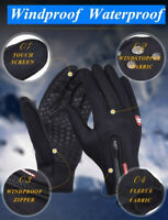 Windproof Thermal Heat Gloves Touchscreen Winter Warm Women Men Mittens Cycling