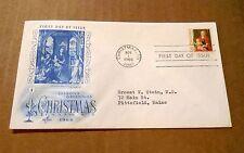 """1966! """"Christmas 1966""""! Christmas, MI. Postmark! w/(1) 5 Cent Stamp! VG Cond!"""