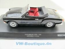 + VOLKSWAGEN VW Karmann Ghia Cabrio in 1:18  Minichamps + 1970 schwarz 155054031