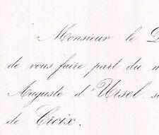 Auguste D'Ursel Bruxelles 1860 Marie Camille De Croix