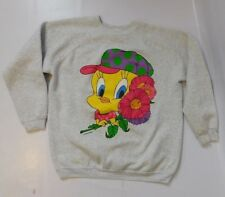 Vintage LOONEY TUNES 1990s Womens Tweety Bird Crew Neck Sweatshirt Size L / XL