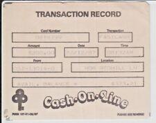 Singapore POSB 1987 Cash-On-Line Transaction Receipt Card, Good Collectible