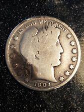 1904-S Barber Half Dollar Good+, Tough Semi-Key Date