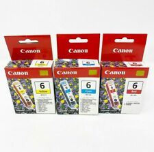 Lot of 3 Canon Ink Tanks Cartridges Yellow BCI-6Y, Cyan BCI-6C, Red BCI-6R