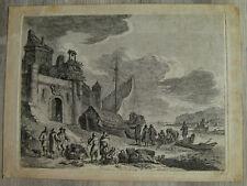 Frantz Edmund Weirotter gravure XVIIIème sur vergé engraving etching stampa