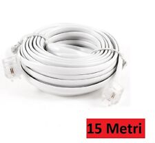 Telephone cable extension telephone cable 15 metre rj11 Connector Plug Modem HSB