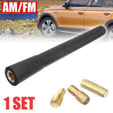 Black Universal Short Stubby Car Antenna AM/FM Radio Aerial Mast Screw Type