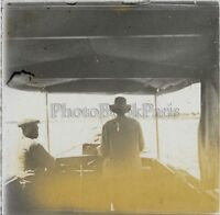 Africa IN Bateau Foto Q43 Placca Lente Stereo Positive Vintage Ca 1920