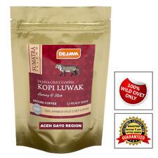 100% SUMATRA ACEH GAYO WILD CIVET CAT COFFEE KOPI LUWAK - ROASTED & GROUND - 50g