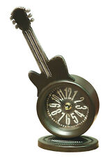 Stialized Guitar Table Clock 11.5x5x3 inches