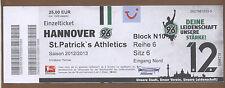 Orig.Ticket   Europa League 12/13   HANNOVER 96 - St.PATRICK`s ATHLETICS !! RARE